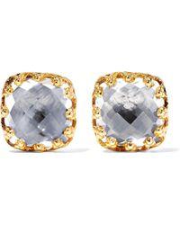 Larkspur & Hawk - 18-karat Gold-dipped Quartz Earrings - Lyst