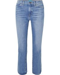 M.i.h Jeans - Cult Cropped High-rise Straight-leg Jeans - Lyst