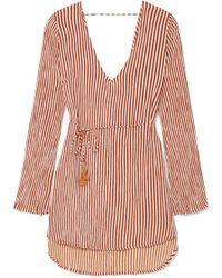 Faithfull The Brand - Apart Striped Voile Mini Dress - Lyst