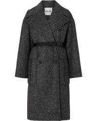 KENZO - Belted Tweed Coat - Lyst