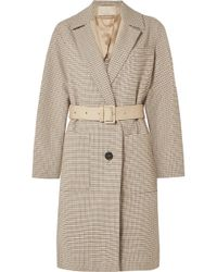 Vanessa Bruno - Iambo Belted Cotton-tweed Coat - Lyst
