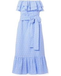 Lisa Marie Fernandez - Sabine Strapless Broderie Anglaise Cotton Maxi Dress - Lyst