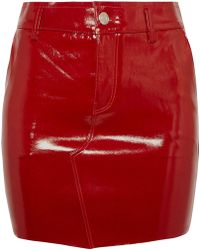 RTA - Callie Patent-leather Mini Skirt - Lyst