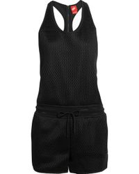 Nike - Court Hypermesh And Jersey Playsuit - Lyst