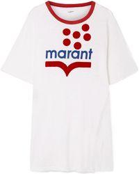 Étoile Isabel Marant - Kutai Flocked Printed Slub Linen-jersey T-shirt - Lyst