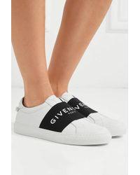 Givenchy Urban Street Slip-ons Aus Leder Mit Logoprint - Weiß