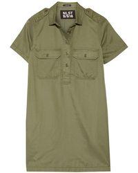 NLST - - Satin-twill Mini Dress - Army Green - Lyst