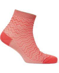 Missoni - Metallic Crochet-knit Socks - Lyst