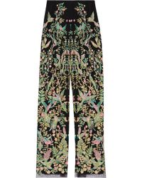 Marchesa - Embroidered Tulle Wide-leg Trousers - Lyst