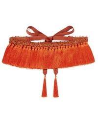 Johanna Ortiz We Are Human Embellished Tasselled Belt - Orange