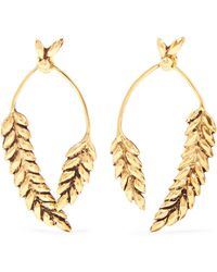 Aurelie Bidermann - Wheat Gold-plated Earrings - Lyst