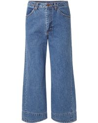 we11done - Cropped High-rise Wide-leg Jeans - Lyst