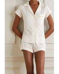 Eberjey Gisele Printed Stretch-modal Pyjama Set - White