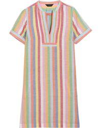 J.Crew - Quinlan Striped Cotton, Ramie And Linen-blend Mini Dress - Lyst