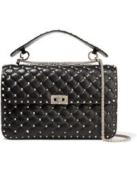 Valentino - Matelassé Large Embellished Quilted Leather Shoulder Bag - Lyst
