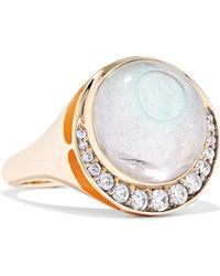 Noor Fares - Svadhisthana 18-karat Gold, Enamel And Multi-stone Ring Gold 7 - Lyst