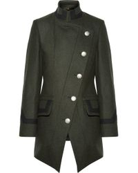Vivienne Westwood Anglomania - State Asymmetric Wool-blend Coat - Lyst