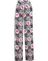 Duro Olowu - Zanzibar Printed Silk-satin Wide-leg Trousers - Lyst