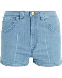 Topshop Unique - Holyport Denim Shorts - Lyst