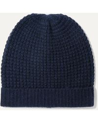 Madeleine Thompson Holby Waffle-knit Cashmere Beanie - Blue