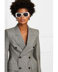 Balenciaga Oversized Square-frame Acetate Sunglasses - White