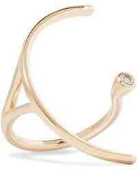 Hirotaka - Tree Hopper 10-karat Gold Diamond Ring Gold 6 - Lyst