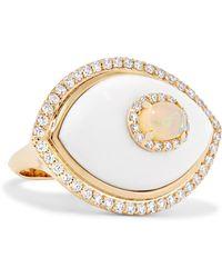 Marlo Laz - Eyecon 14-karat Gold Multi-stone Ring - Lyst