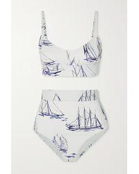 Emilia Wickstead Pia Bedruckter Bikini - Weiß