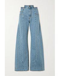 Maison Margiela Panelled High-rise Wide-leg Jeans - Blue