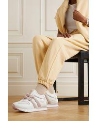 Alexandre Birman Clarita Jogger Sneakers Aus Leder Und Neopren Mit Knoten - Weiß