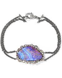 Kimberly Mcdonald - 18-karat Blackened White Gold, Opal And Diamond Bracelet - Lyst