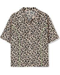 Sandy Liang Imo Leopard-print Crepe De Chine Shirt - Multicolour