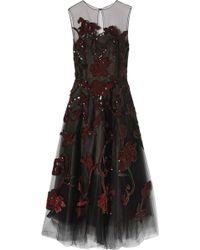 Oscar de la Renta - Embellished Tulle Gown - Lyst