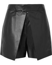 Valentino - Layered Leather Shorts - Lyst