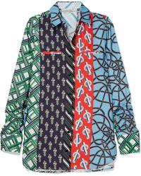 Carven - Printed Silk-twill Shirt - Lyst