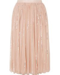 Needle & Thread - Jupe Midi En Tulle À Sequins - Lyst