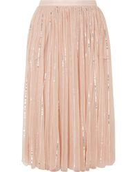 Needle & Thread - Sequined Tulle Midi Skirt - Lyst