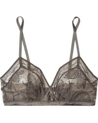 Eres - Farniente Mimosa Silk-blend Satin And Stretch-lace Soft-cup Triangle Bra - Lyst
