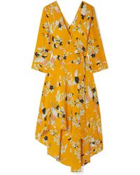 Diane von Furstenberg - Eloise Floral-print Silk Wrap Dress - Lyst