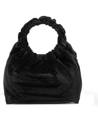 The Row - Double Circle Small Velvet Bag - Lyst