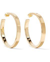 Jennifer Fisher - Kate Gold-plated Hoop Earrings - Lyst
