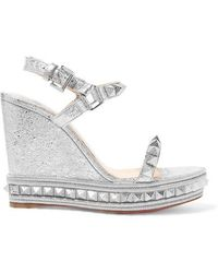 6a640d0b1ed Christian Louboutin Madmonica 120 Spiked Metallic Cracked-leather ...