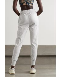 The Upside Long Island Cotton-jersey Track Trousers - Grey