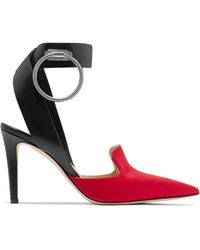 Monse - Embellished Leather And Satin Court Shoes - Lyst