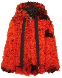 Marques'Almeida - Oversized Hooded Shearling Coat - Lyst