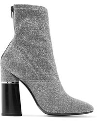 3.1 Phillip Lim - Kyoto Metallic Stretch-knit Ankle Boots - Lyst
