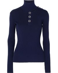 Dion Lee - Cutout Ribbed Stretch-knit Turtleneck Jumper - Lyst