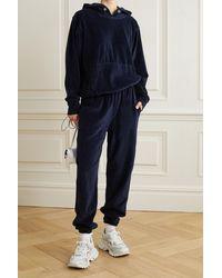 Les Tien Cotton-blend Velour Track Pants - Blue