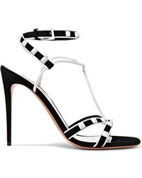 Valentino - Rockstud Suede And Leather Sandals - Lyst