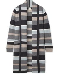 Le Kasha Bayeux Stripe Cashmere Cardigan - Grey